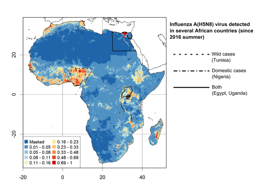 H5N1 suitability model in Africa